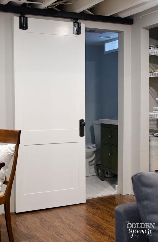 Inexpensive way to update your plain sliding door