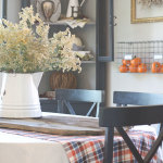 Rustic fall dining room