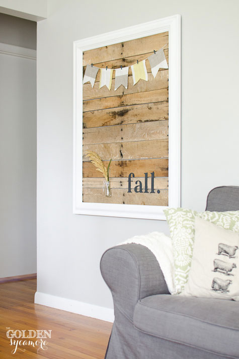 DIY fall pallet decor