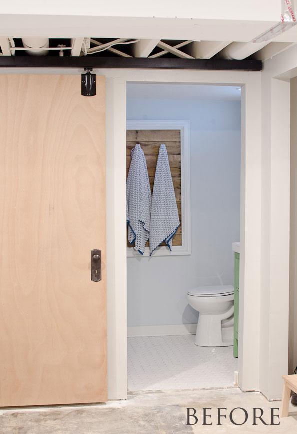 Plain sliding door - before