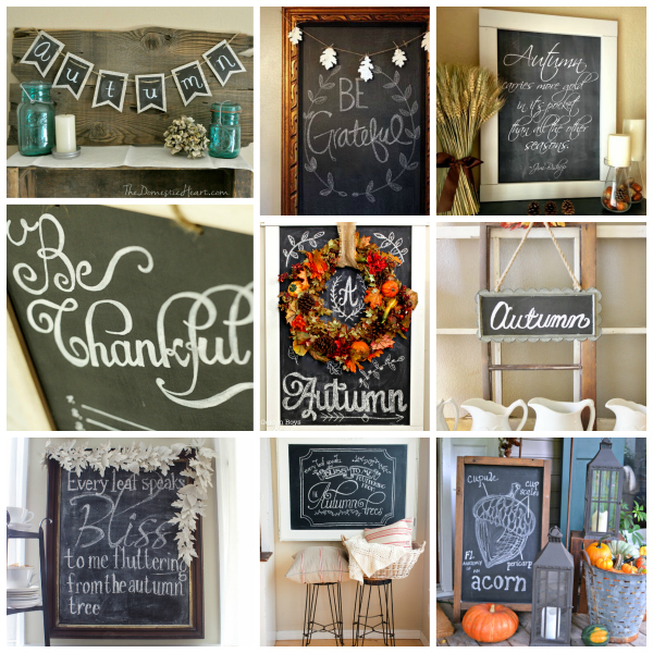 80+ Fall Chalkboards