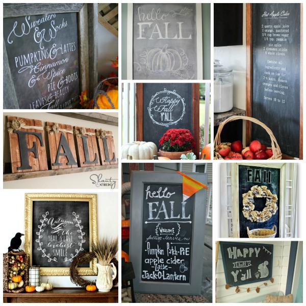 80+ Fall Chalkboards