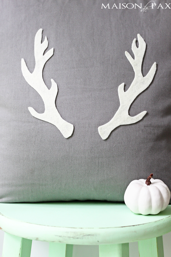 DIY antler pillow