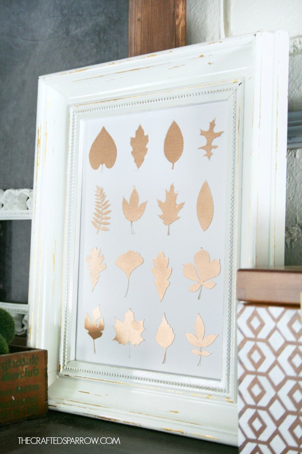 Copper leaf specimen art