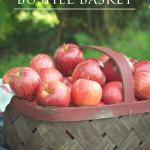 DIY vintage bushel basket