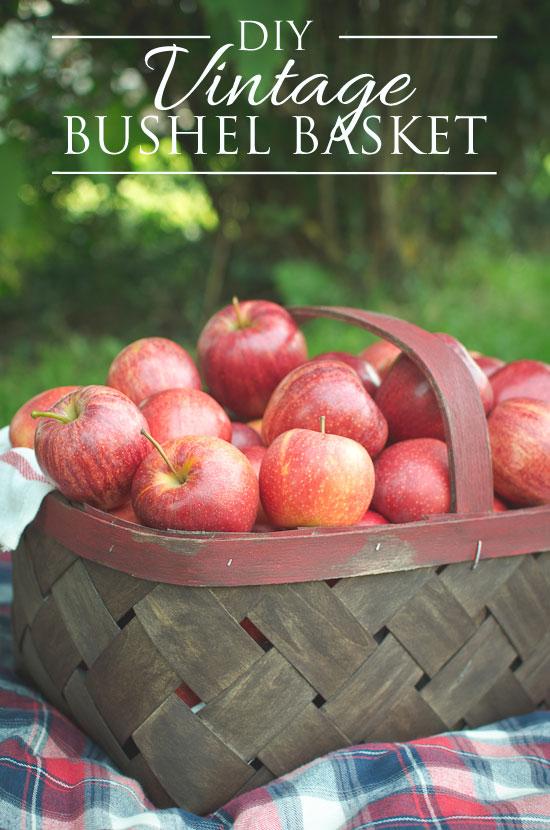 DIY vintage orchard bushel basket
