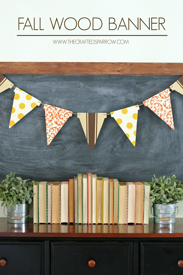 Fall wood banner