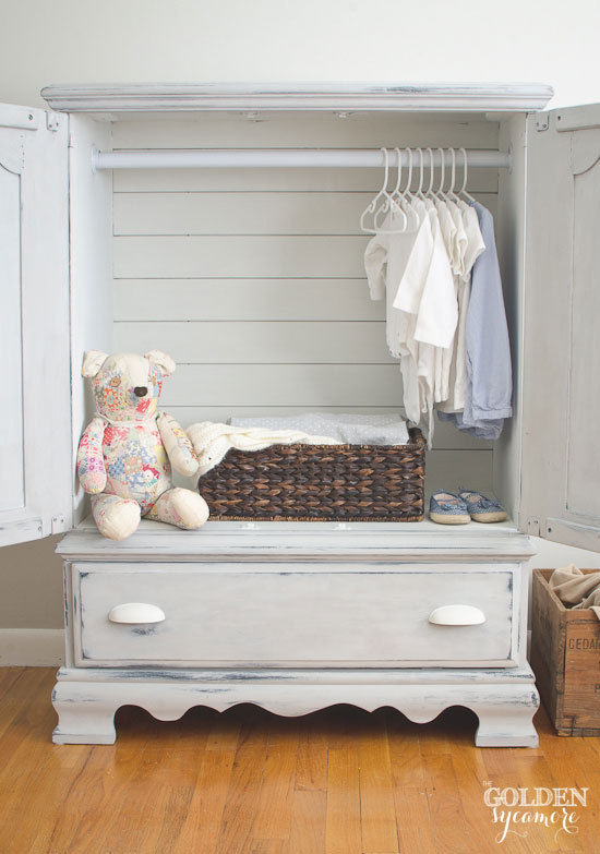 Armoire with planked back | via www.thegoldensycamore.com