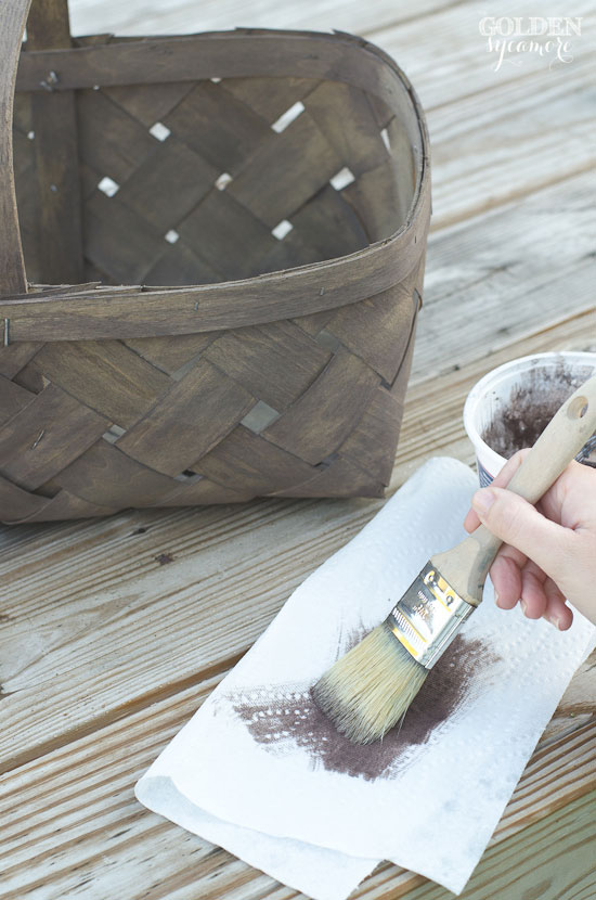 Dry brushing with milk paint as a stain | via www.thegoldensycamore.com