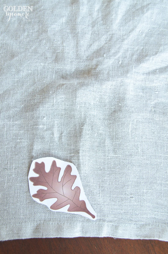Easy leaf embroidered fall napkin