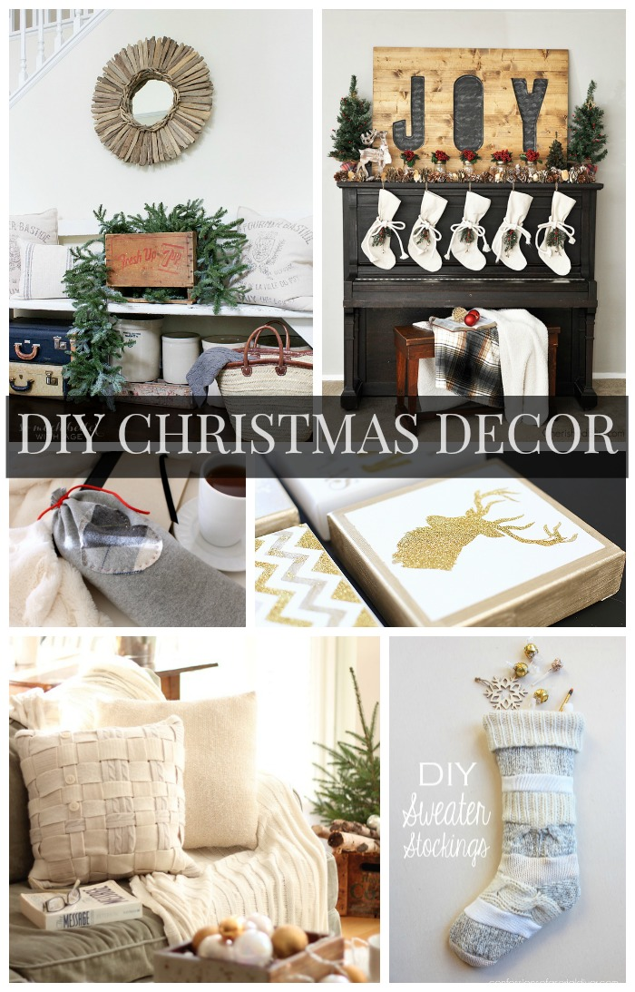 Diy Christmas Decor Ideas Link Party Features The Golden Sycamore