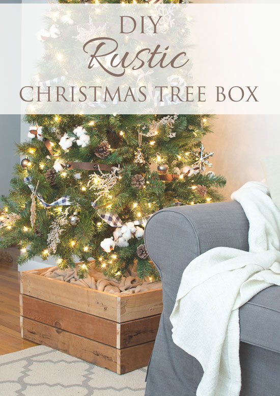 DIY rustic Christmas tree stand box