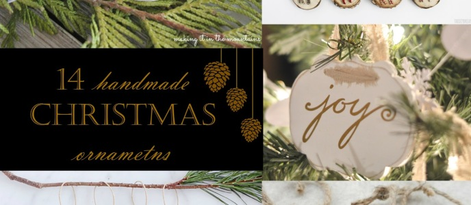 Handmade Christmas Ornaments – Link Party Features