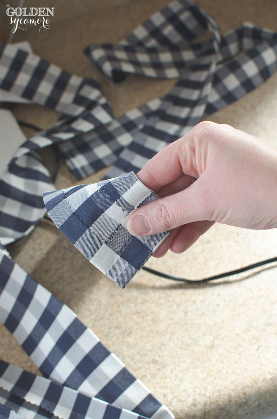 How to make fabric ribbon