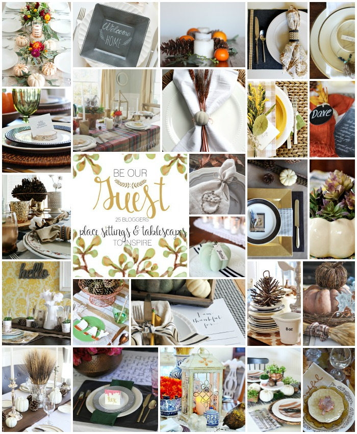 Thanksgiving tablescape ideas  #BeOurGuest