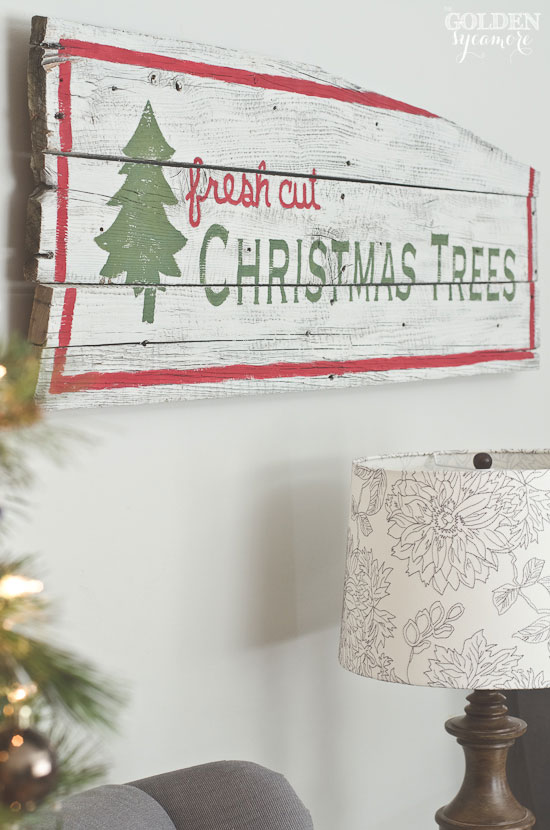 vintage rustic barn wood christmas trees sign thegoldensycamorecom - Christmas Decor Signs
