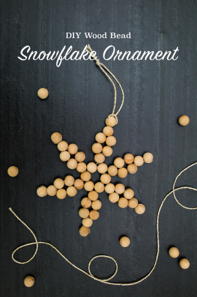 DIY bead snowflake ornament