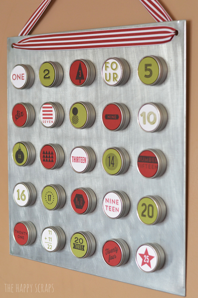 Stamped advent calendar