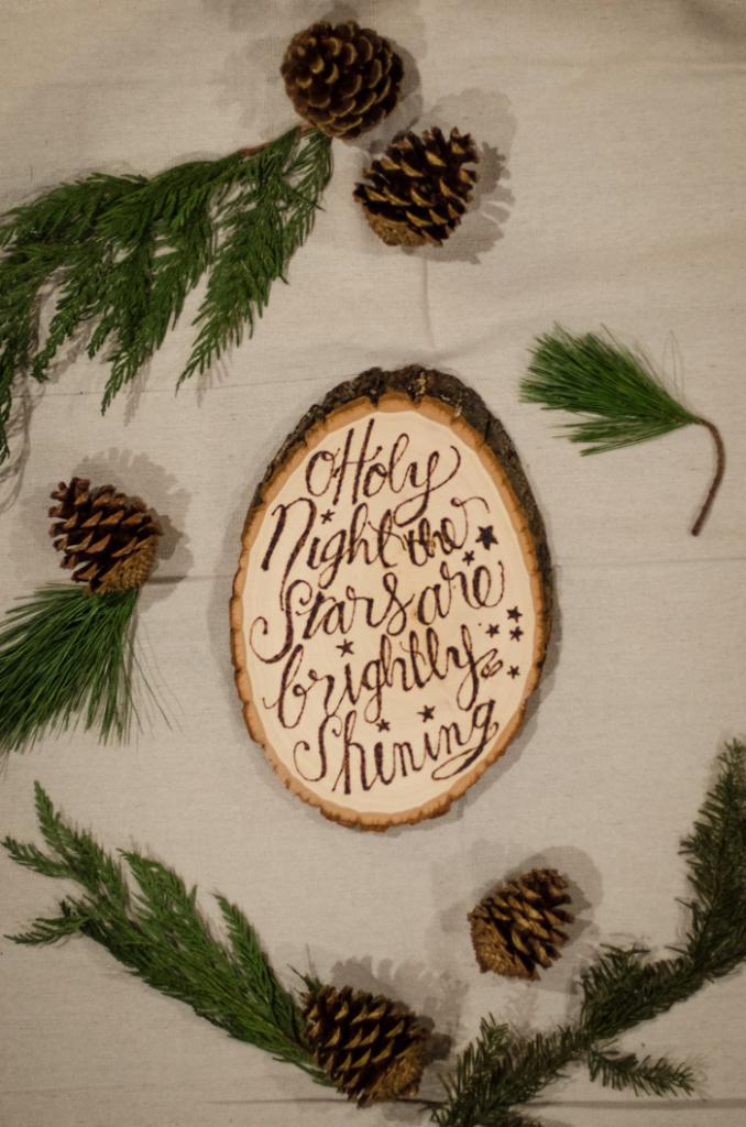 Christmas wood slice