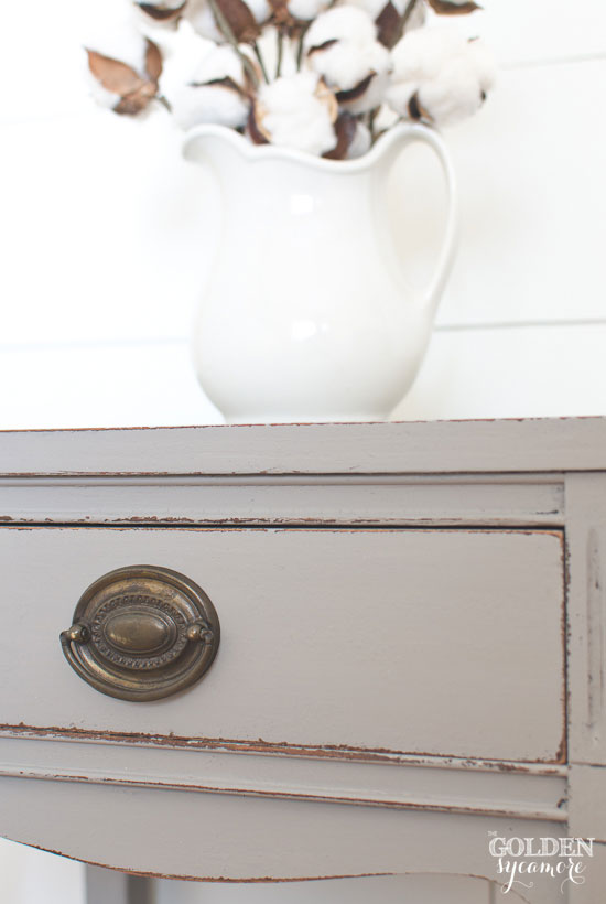 Gray end table - thegoldensycamore.com