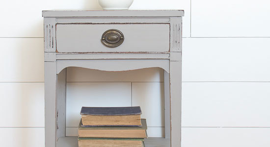 The Gray End Table that Almost Didn't Work Out