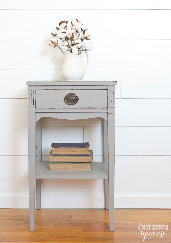 Updated gray end table - thegoldensycamore.com