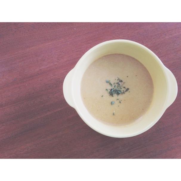 homemade cauliflower soup