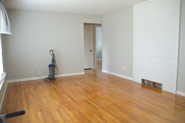 Refinishing our hardwood floors - before