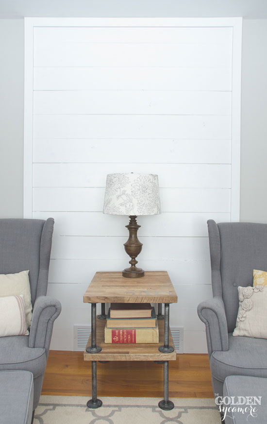 Diy Wood Plank Shiplap Accent Wall The Golden Sycamore