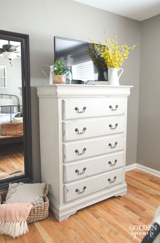 Beautiful painted bedroom dresser