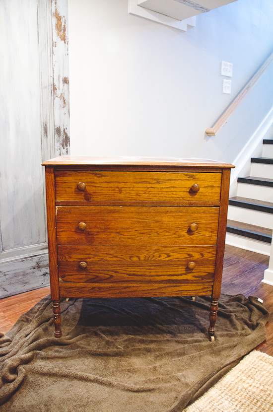 trashed dresser gets beautiful makeover - check out the after at www.thegoldensycamore.com