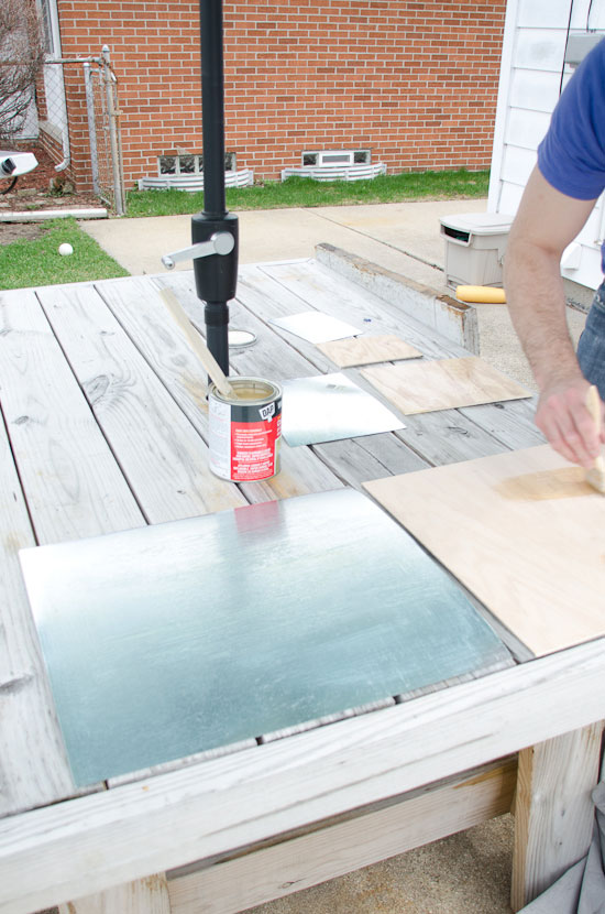 Adding sheet metal to boards for magnetic chalkboards