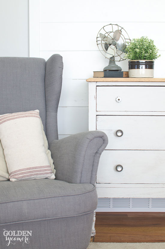 Beautiful light gray painted dresser