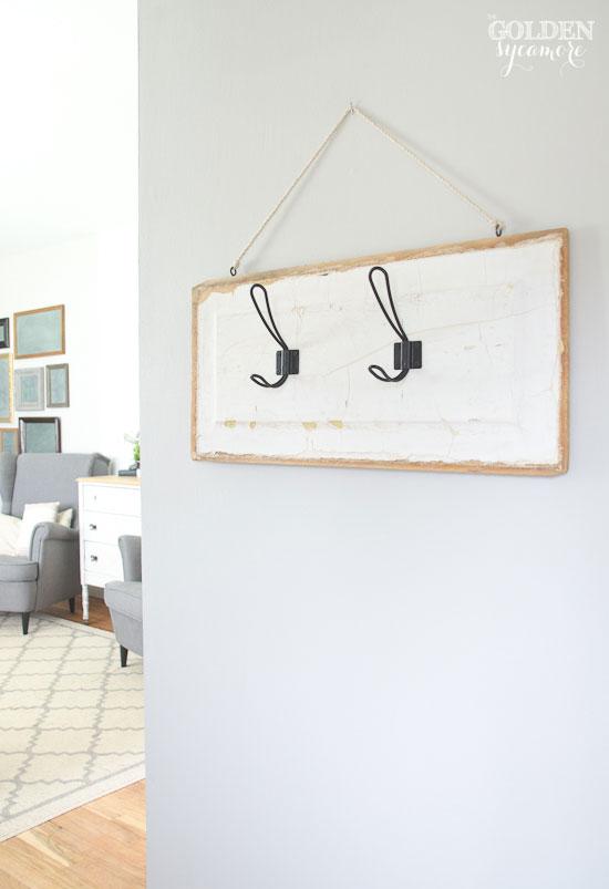 DIY vintage key rack wall hanger for entry foyer