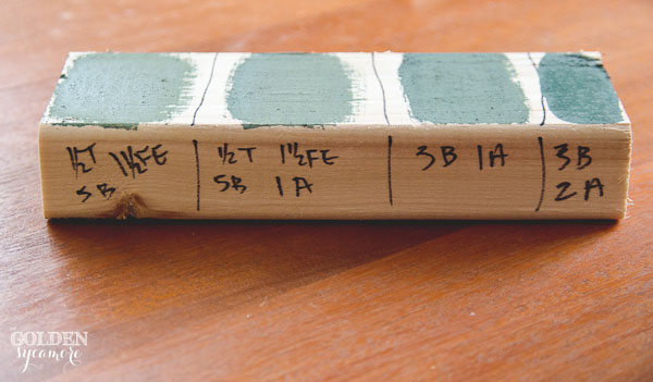 Milk paint samples for DIY chalkboards
