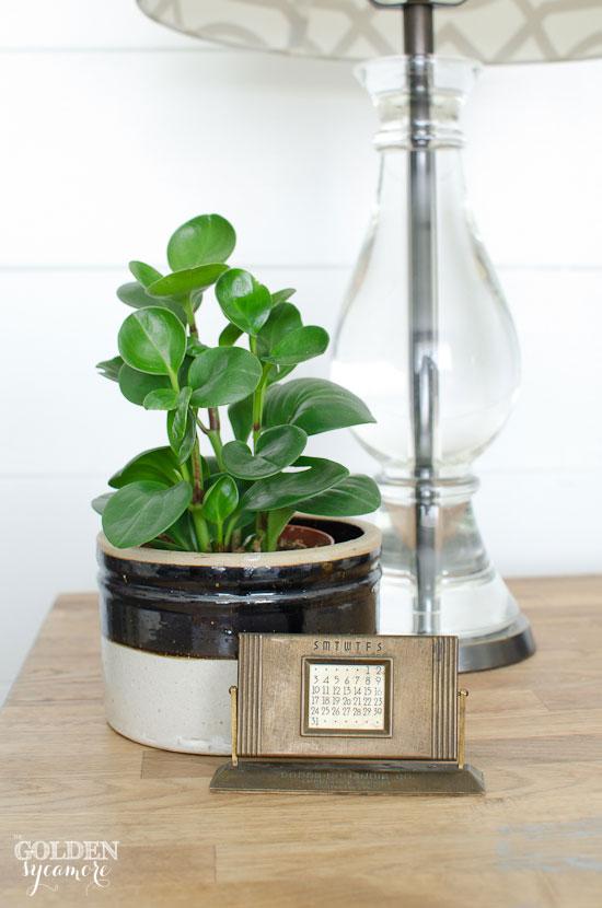 Plant and vintage perpetual calendar