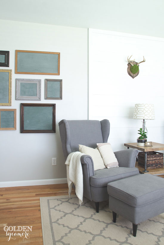 Vintage eclectic green chalkboard gallery wall - thegoldensycamore.com