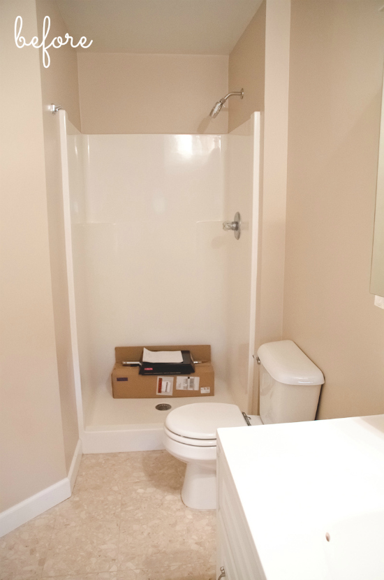 Lowe's Spring Bathroom Makeover - before