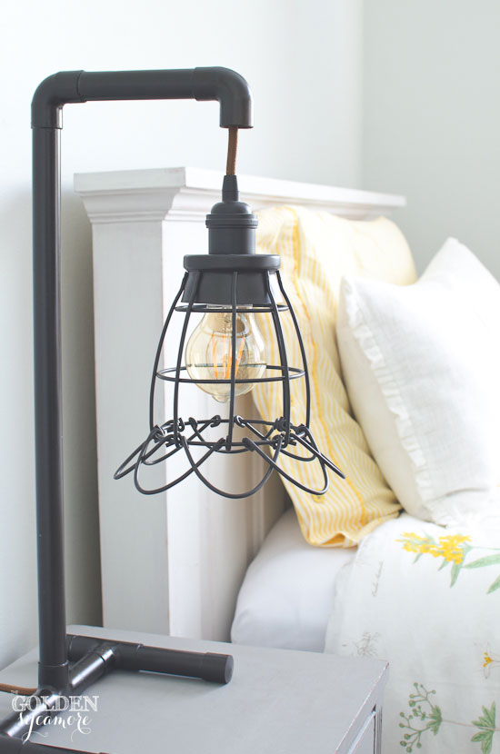 DIY industrial copper pipe lamp