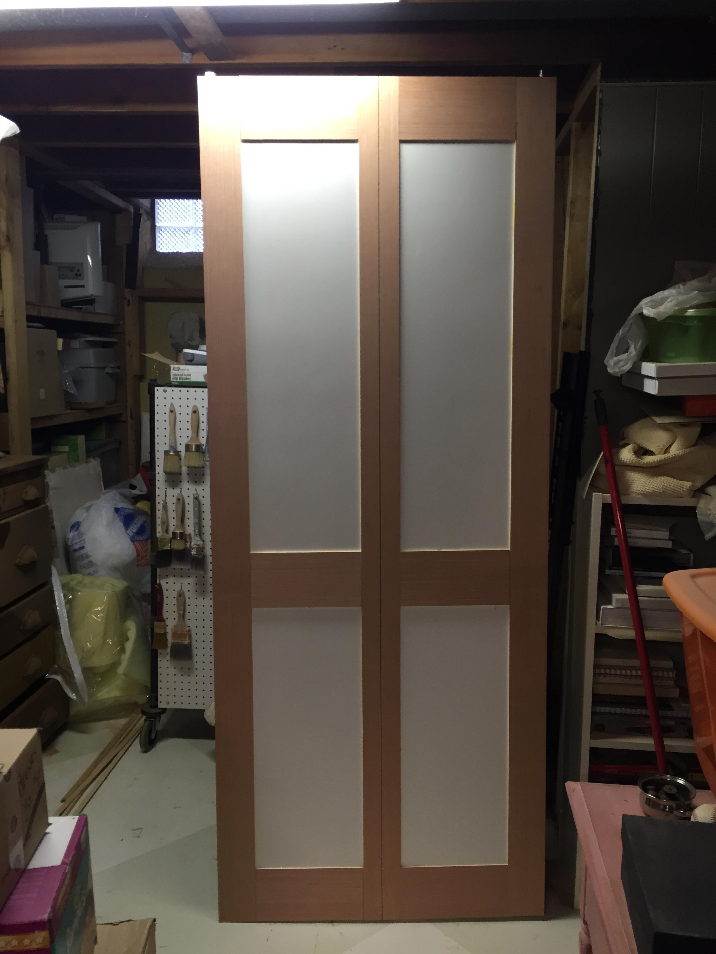 DIY paneled closet door - progress