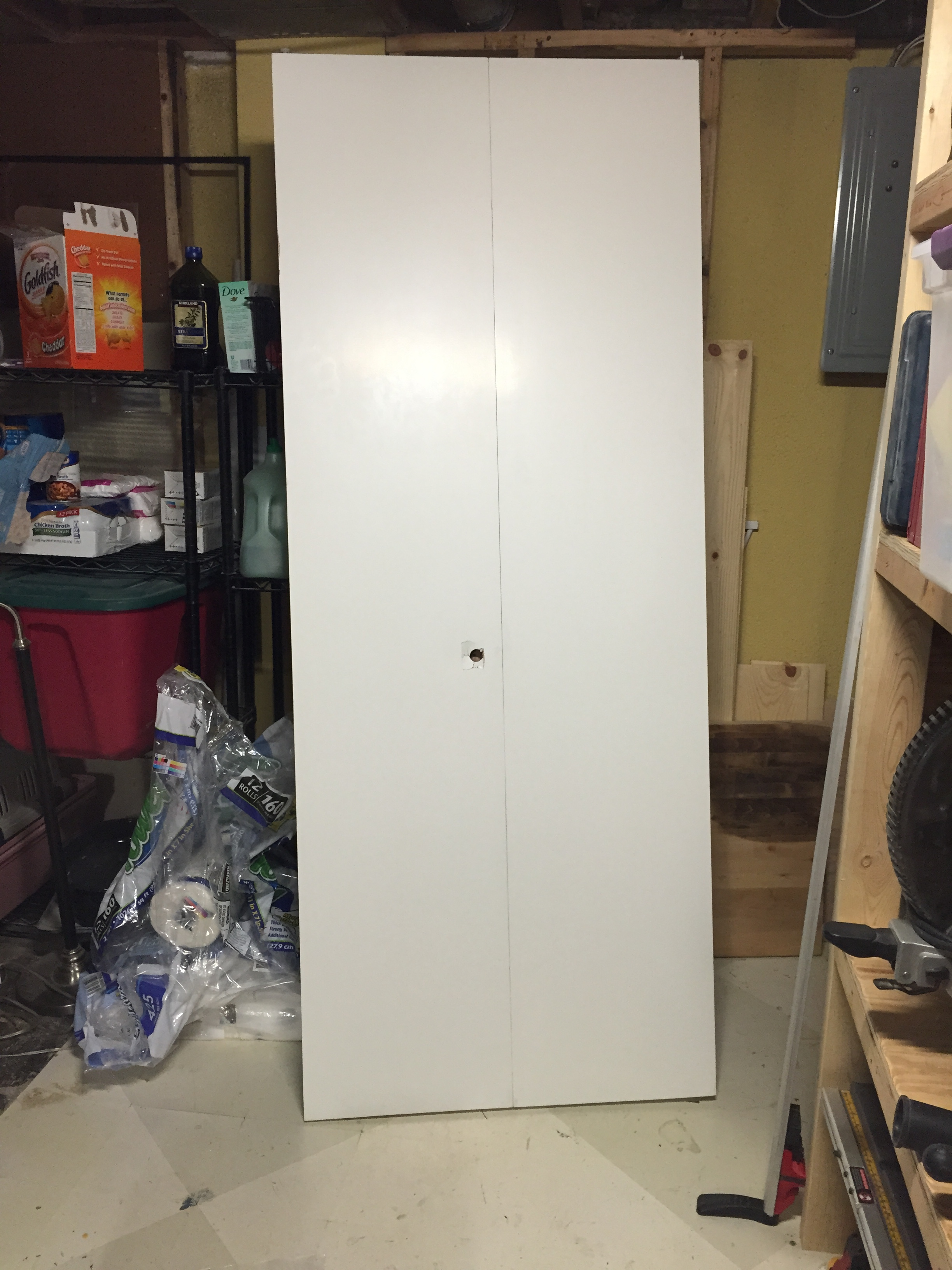 closet door before - you have to see this amazing transformation!