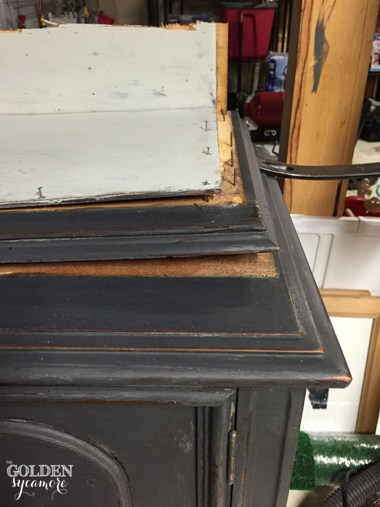 Broken hutch - turned buffet - see the transformation!