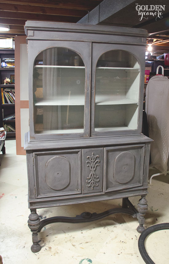 Layered milk paint colors - china hutch progress