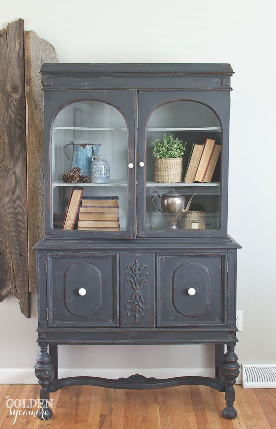Distressed Painted Hutch from The Golden Sycamore  ||  Friday Favorites at www.andersonandgrant.com