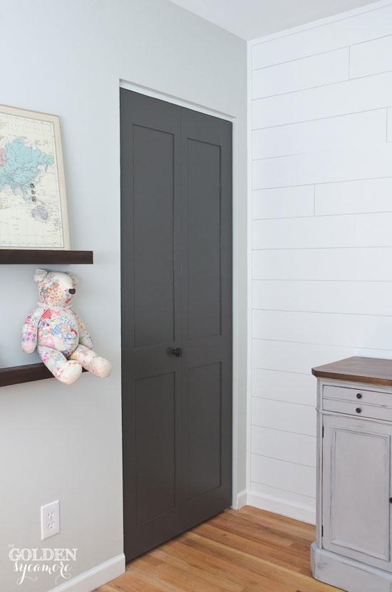 Updated paneled closet doors
