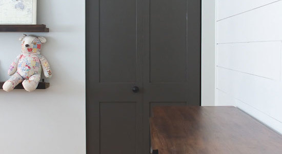 Urbane Bronze closet door update