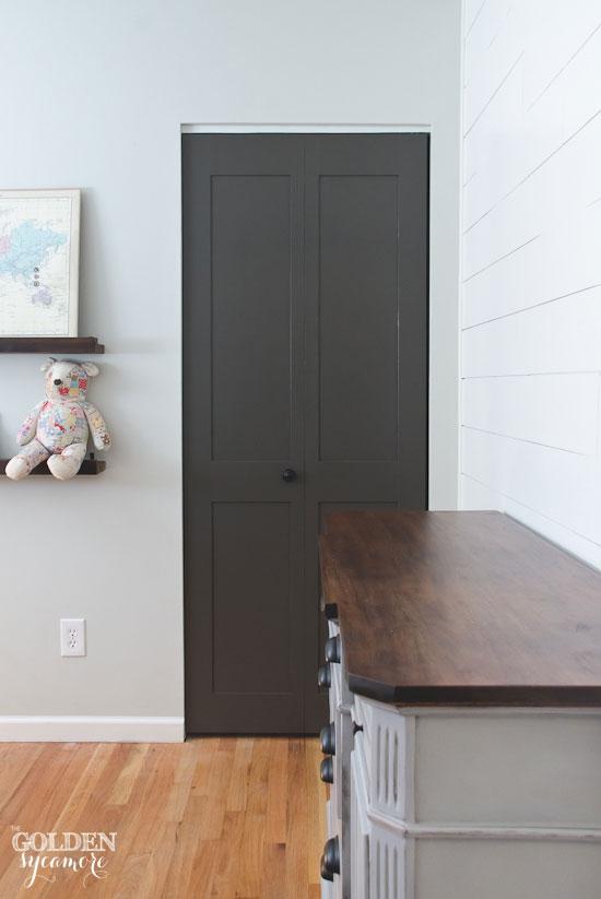 Urbane Bronze closet door update