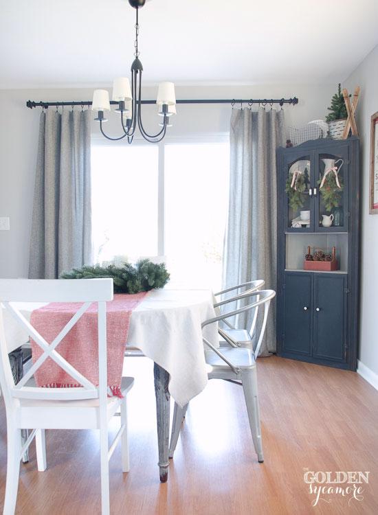Beautiful grey tweed curtains