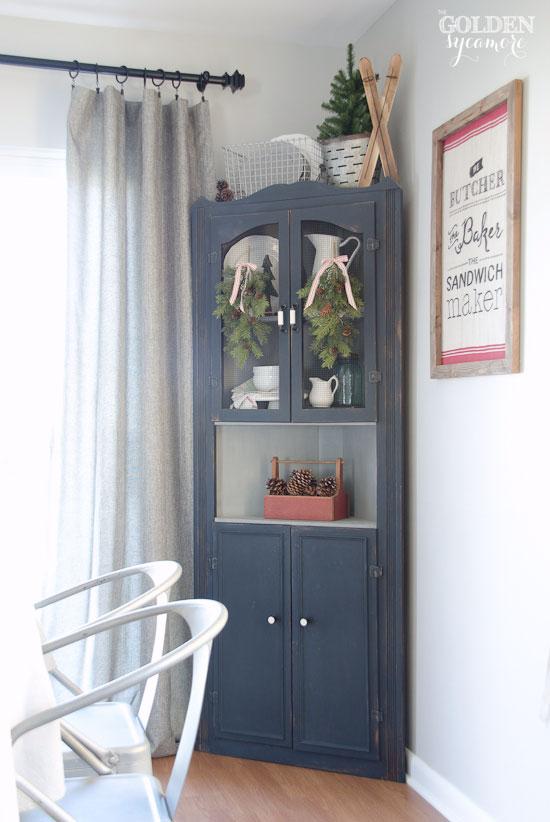 Beautiful Prospect + Vine grey tweed curtains