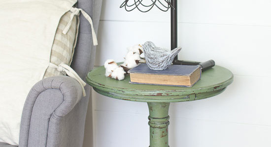 Boxwood milk paint end table